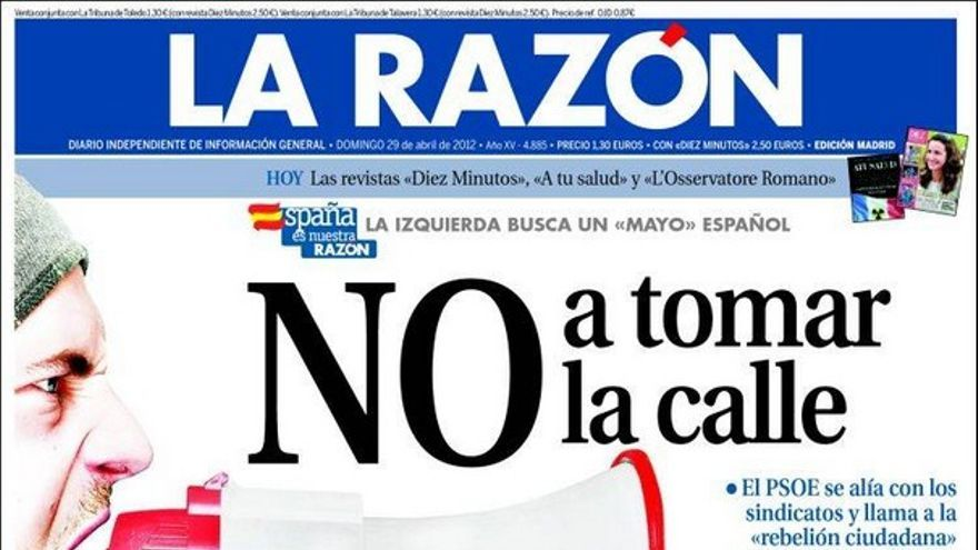 De las portadas del día (29/04/2012) #10