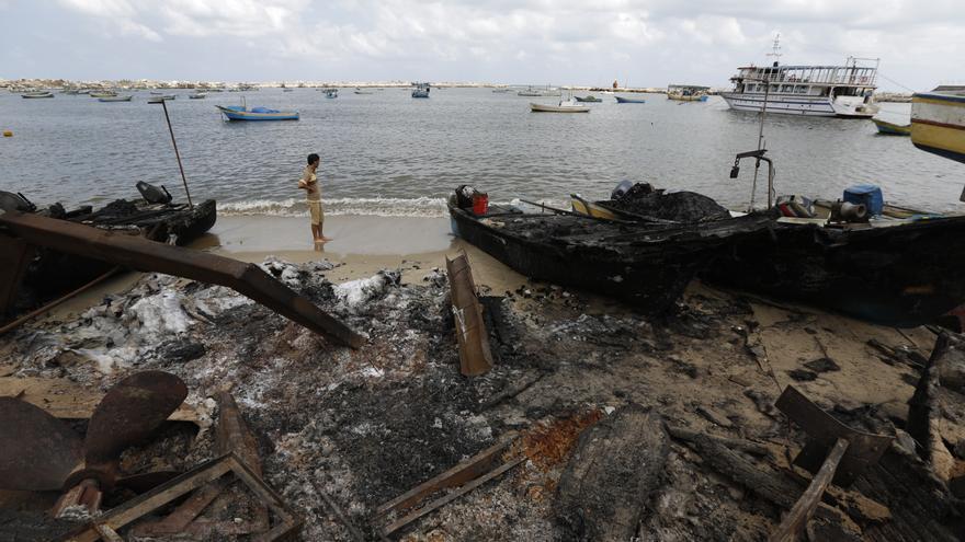 Oxfam apoya a los pescadores de Gaza con equipo y asesoramiento técnico.