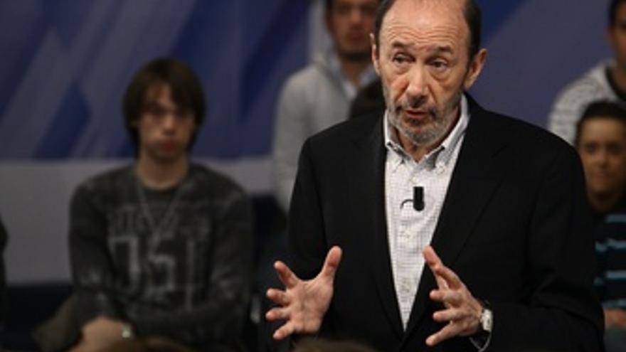 Primer Plano Del Candidato Del PSOE Al Gobierno, Alfredo Pérez Rubalcaba