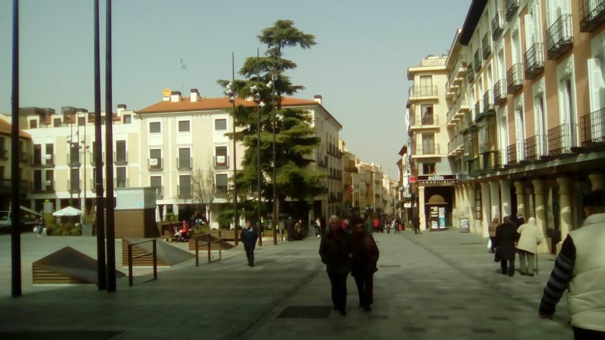 Calle Mayor, en Guadalajara
