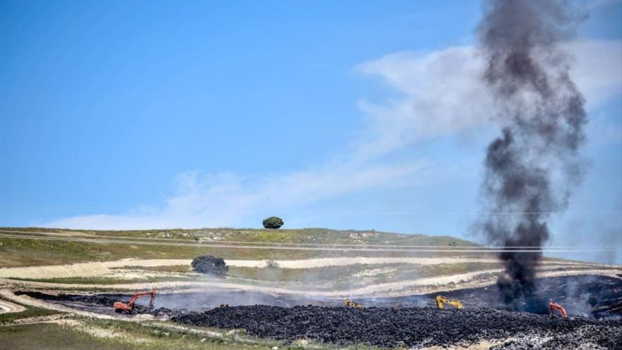 La retirada de neumáticos en el vertedero de Seseña comenzará el lunes