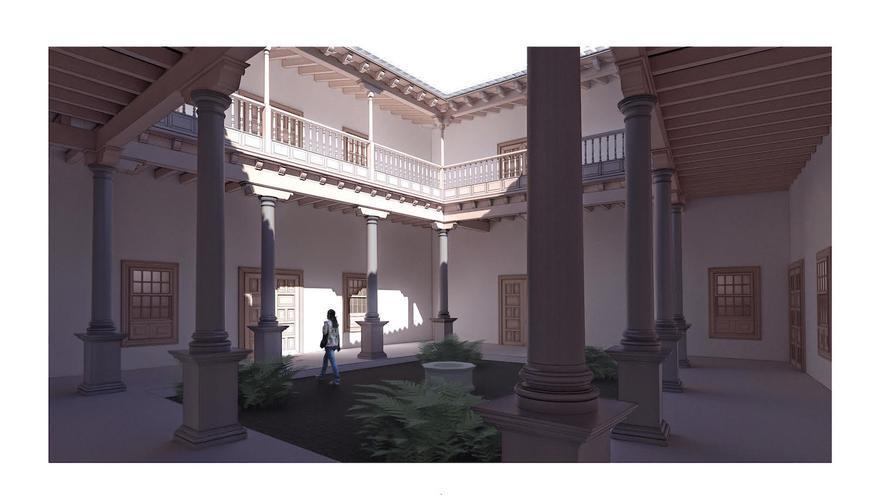 Recreación del proyecto 'Artillero', realizado por el arquitecto de origen palmero Javier de Mingo y Carmen Bueno.