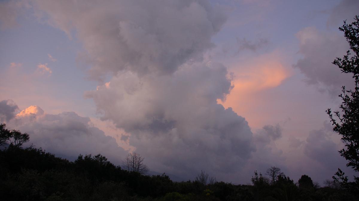 Cielo nublado en La Palma.