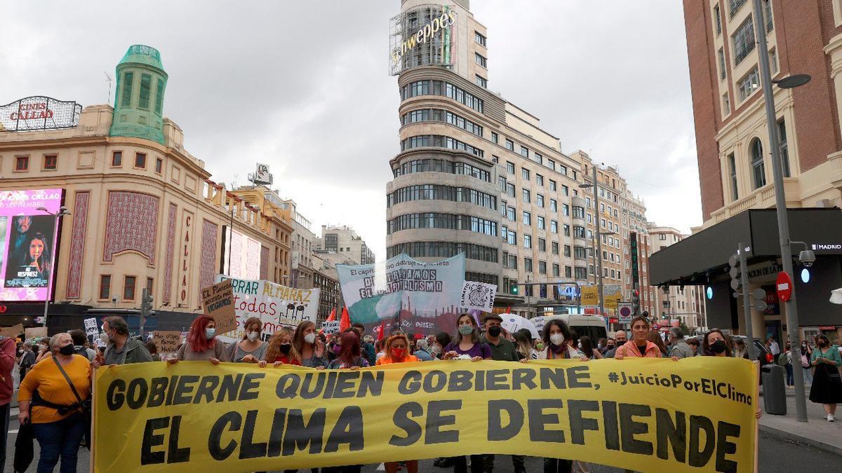 La manifestación contra el cambio climático en Madrid.