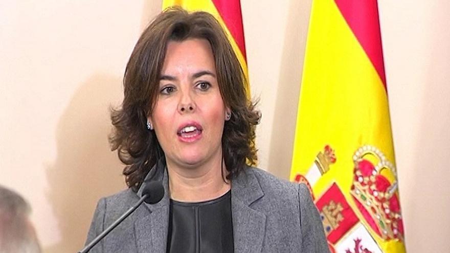 """Santamaría afea a Convergencia que piense en """"un solo catalán"""", Francesc Homs, y dice que no se """"persigue a nadie"""""""