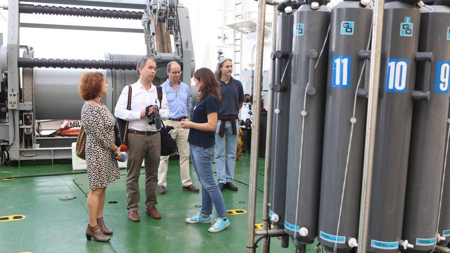 Maquinaria en el buque 'Alliance' (ALEJANDRO RAMOS)