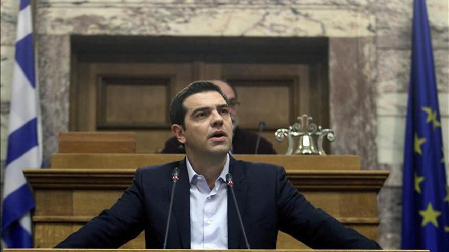 Alexis Tsipras, en un discurso en el Parlamento griego.