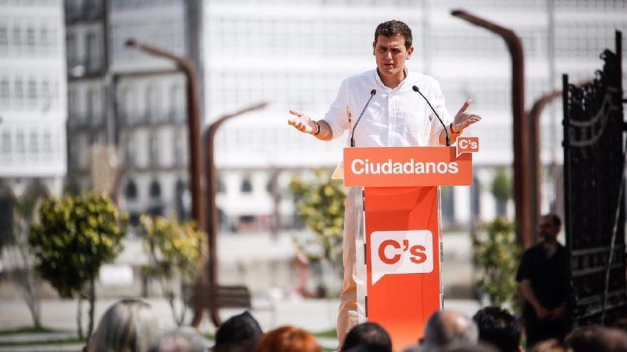 Rivera, durante su mitin en A Coruña