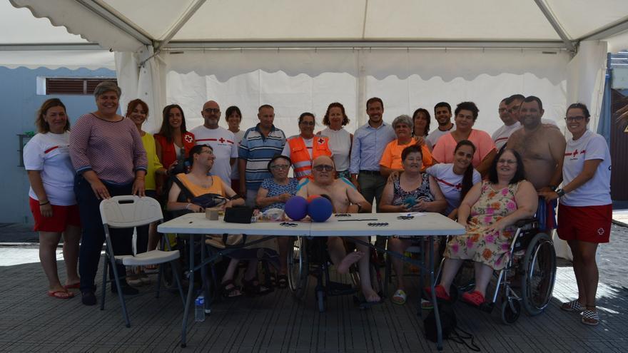 Mariano H. Zapata visitó a los usuarios del programa 'Verano sin barreras'.