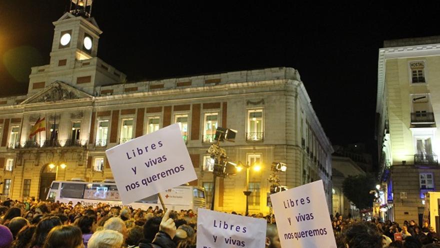 Manifestación por el Día de la Eliminación de la Violencia contra la Mujer en Madrid.