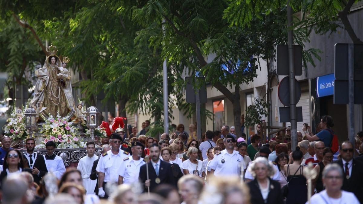 Procesión de la Virgen del Carmen en Santa Cruz de Tenerife antes de la pandemia de COVID-19