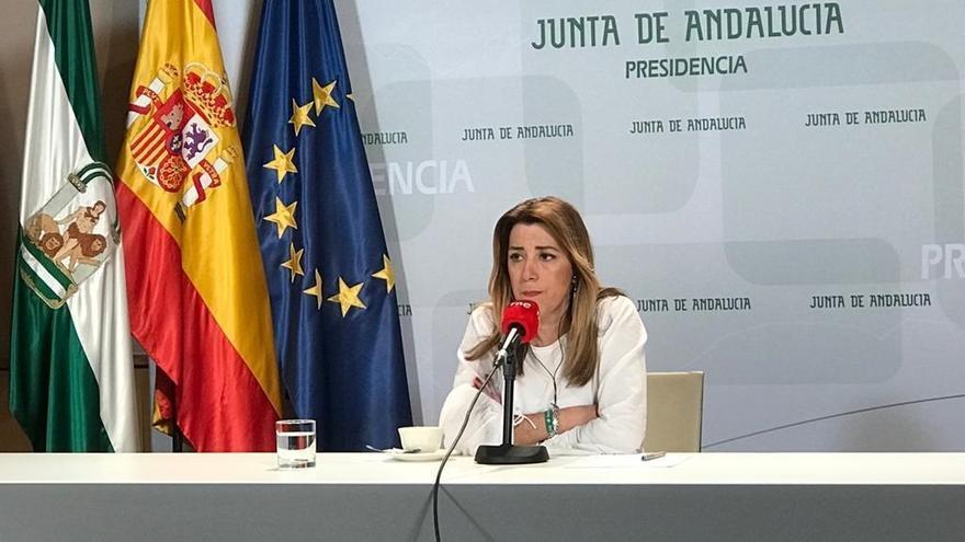 Díaz critica que Casado pretenda dar consejerías a Vox y asegura que se quedará en el Parlamento aunque no gobierne