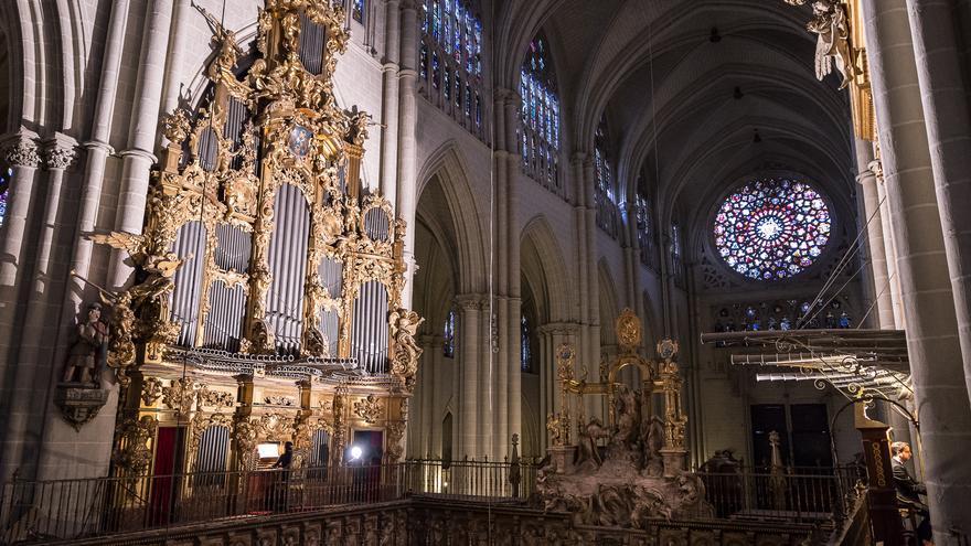 Uno de los órganos de la catedral de Toledo