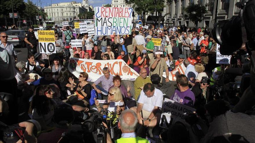 Manifestación en Madrid en 2014 por el tercer aniversario del 15M.