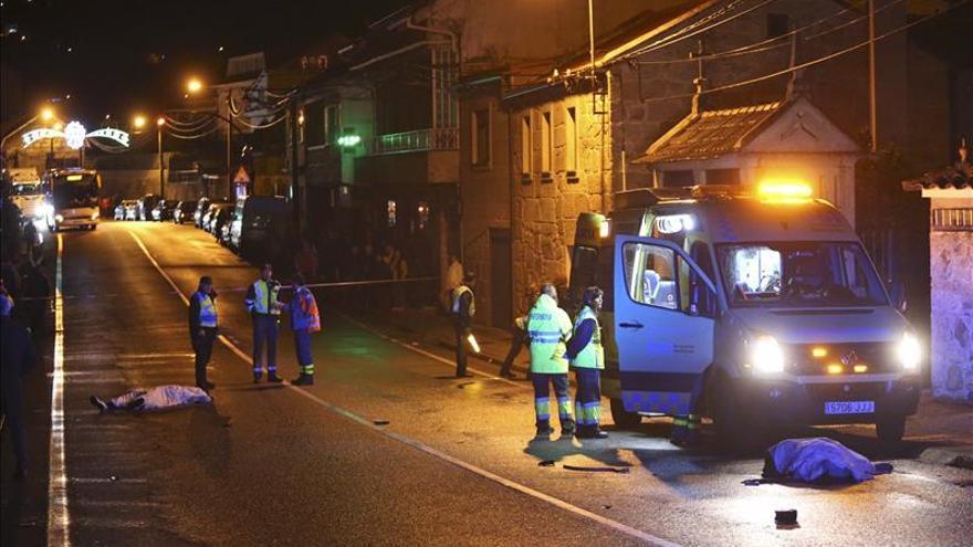 Un particular alertó al 112 de dos mujeres en Moaña sin vida y en la calzada