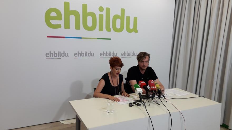 """EH Bildu acusa a Ayerdi de """"aprovechar el verano"""" para avanzar en el TAV y """"negar el debate"""""""