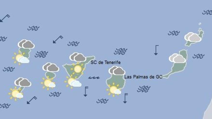 Mapa de la previsión meteorológica de la AEMET para el lunes 4 de julio