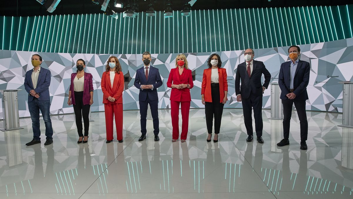 Los candidatos a la Comunidad de Madrid, en el debate electoral