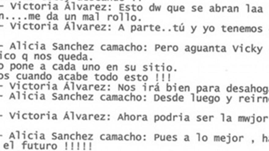 """Aguanta, Vicky"", le dice Sánchez Camacho a Álvarez."