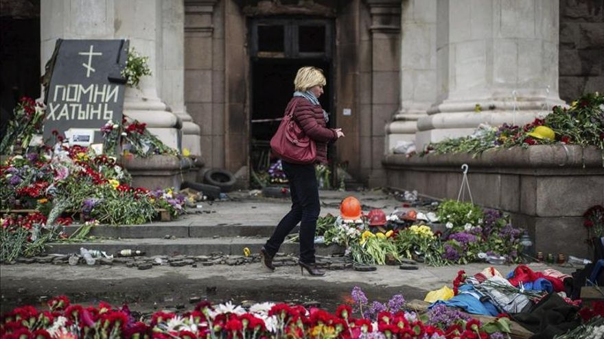 Las dos Ucranias recuerdan a su manera la tragedia de hace un año en Odessa