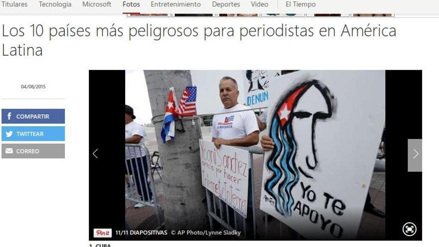 Cuba peligroso para periodistas