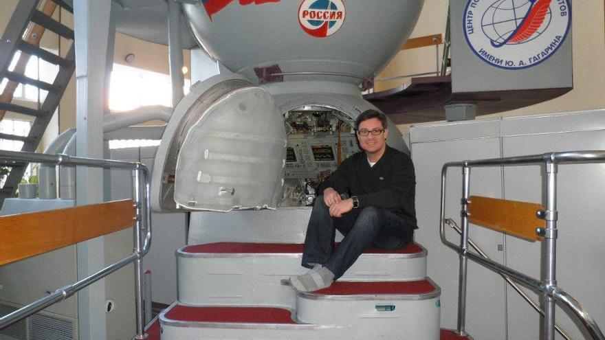 José Luis Vázquez-Poletti en el Centro de Entrenamiento de Cosmonautas Yuri Gagarin