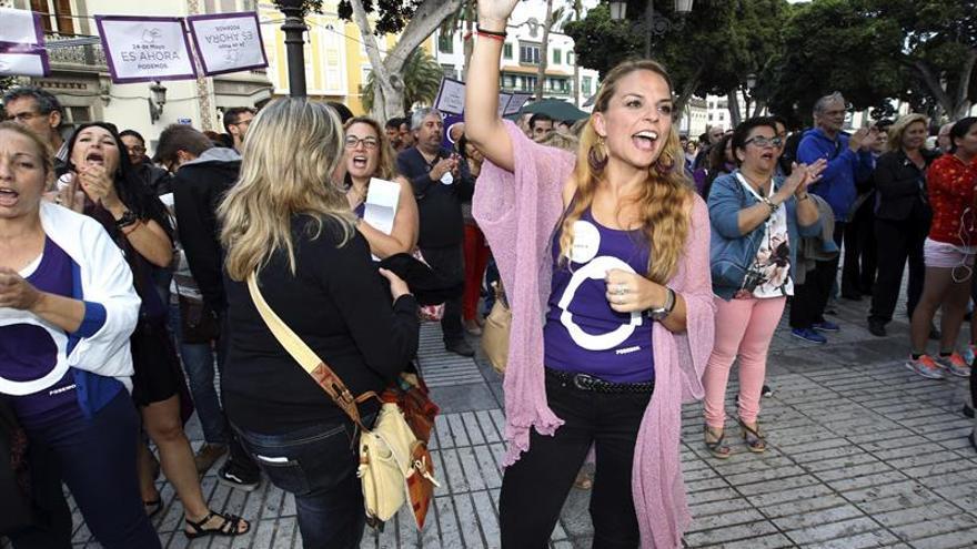 La candidata de Podemos al Parlamento de Canarias, Noemí Santana. (EFE/Elvira Urquijo A.).