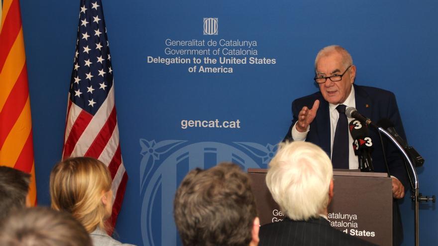 El conseller Maragall, durante la reapertura de la sede de Estados Unidos la semana pasada