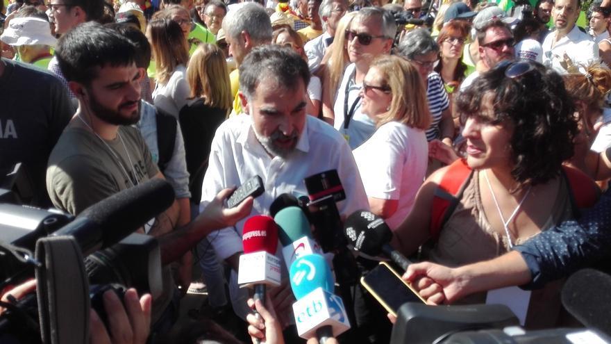 """Cuixart (Òmnium) pide una manifestación """"festiva"""" y niega división social"""