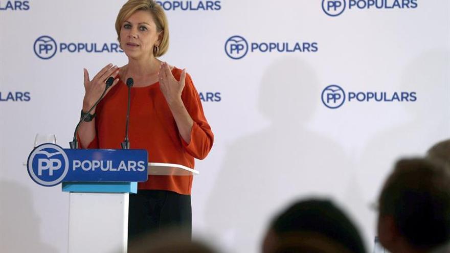 Cospedal: los españoles no perdonarán a quien anteponga el interés personal