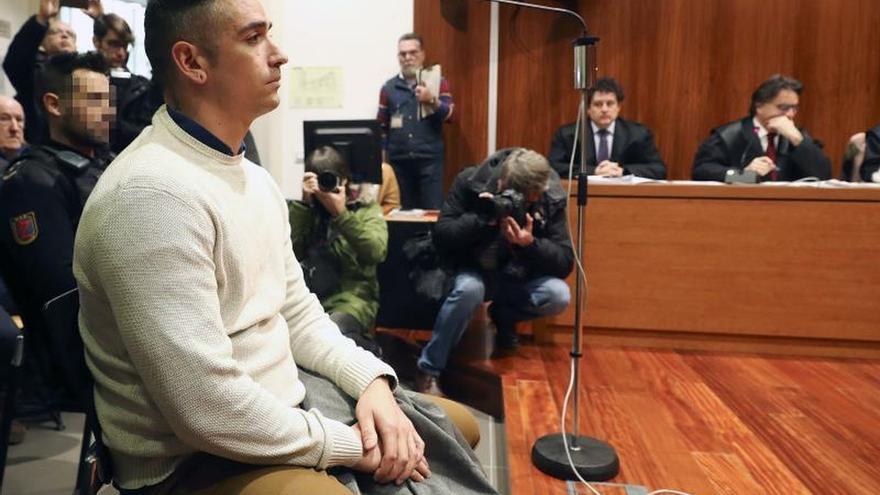 Rodrigo Lanza durante la vista pública celebrada en la Audiencia de Zaragoza.