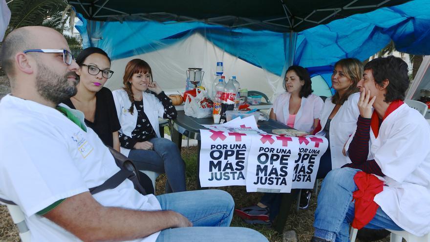Campamento Blanco en Las Palmas de Gran Canaria (ALEJANDRO RAMOS)