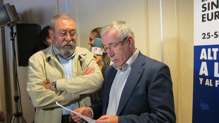 CC.OO. y UGT abren la puerta a una movilización unitaria de los sindicatos europeos