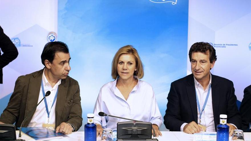 """Cospedal pide al PSOE y Cs mantener la unidad, que será la que dé la """"victoria"""""""