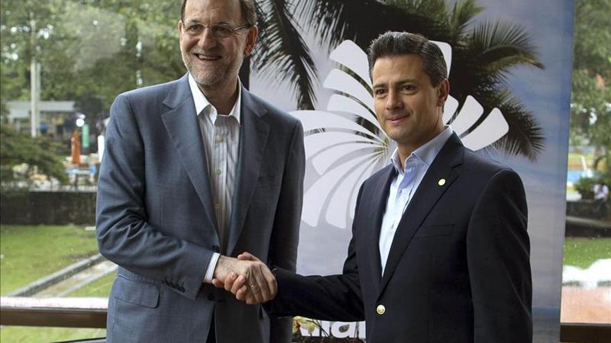 """Rajoy y Peña Nieto analizan el acuerdo de construir dos """"floteles"""" para Pemex"""