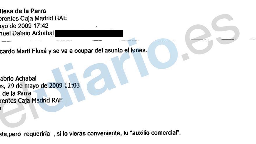Correo de Miguel Blesa a su equipo donde dice haberse hecho cargo de la gestión para convencer a la Fundación ProRAE de que comprara preferentes de Caja Madrid (eldiario.es)