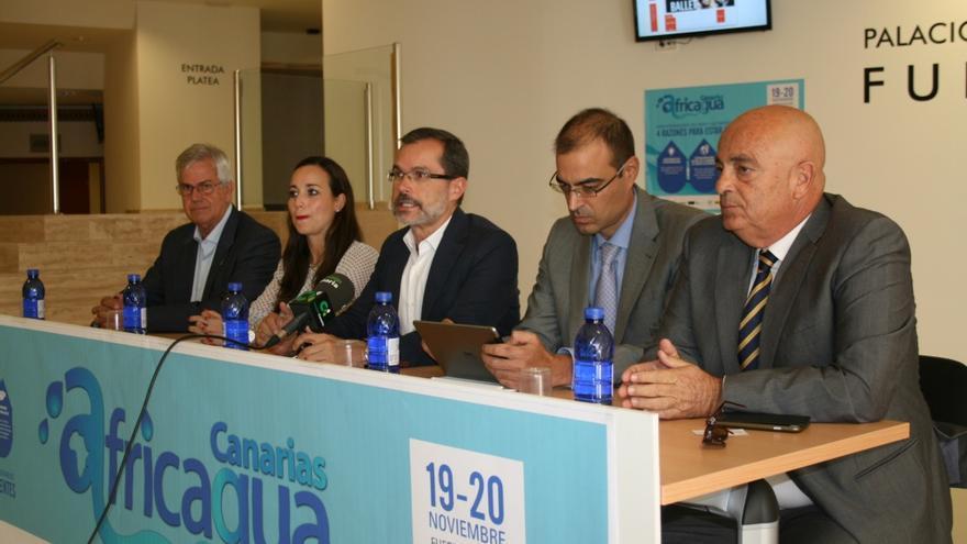 Presentación de Africagua que ha tenido lugar en el Palacio de Congresos de Fuerteventura.