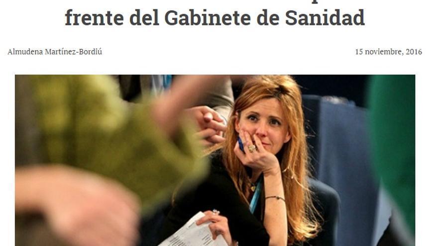 Julia de Micheo, en la web Infovaticana