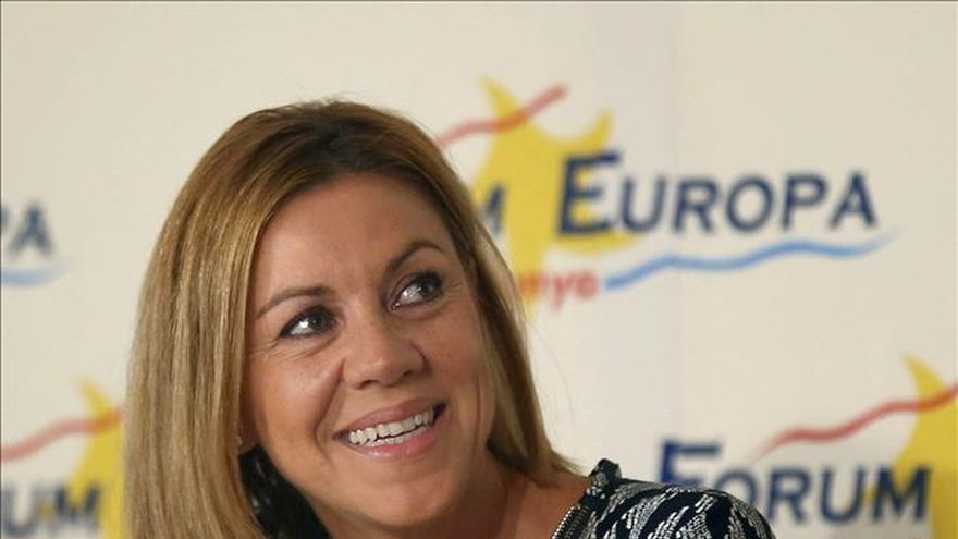 """Cospedal: """"El PSC parece que quiere ir con los independentistas"""""""