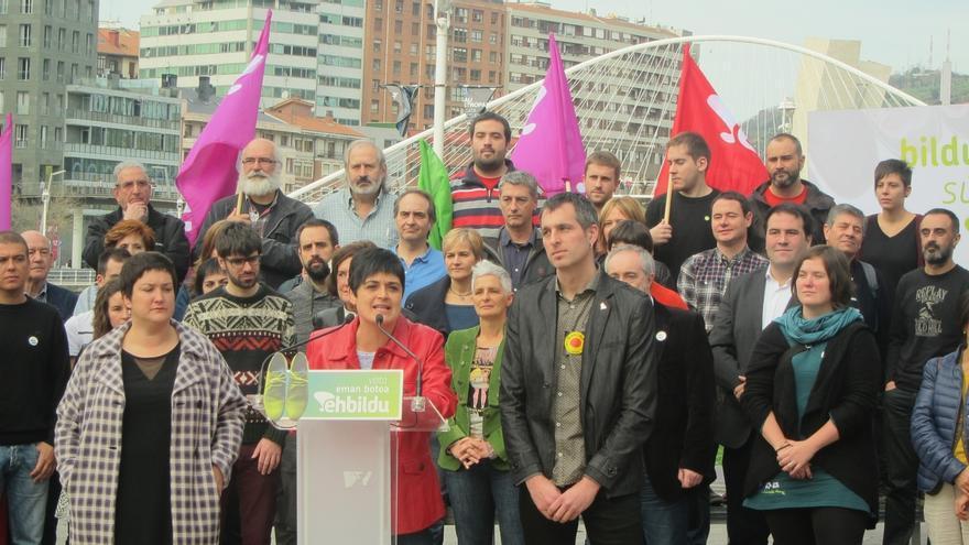 """EH Bildu: """"El domingo nadie se puede quedar en casa porque vamos a ganar que este pueblo decida"""""""