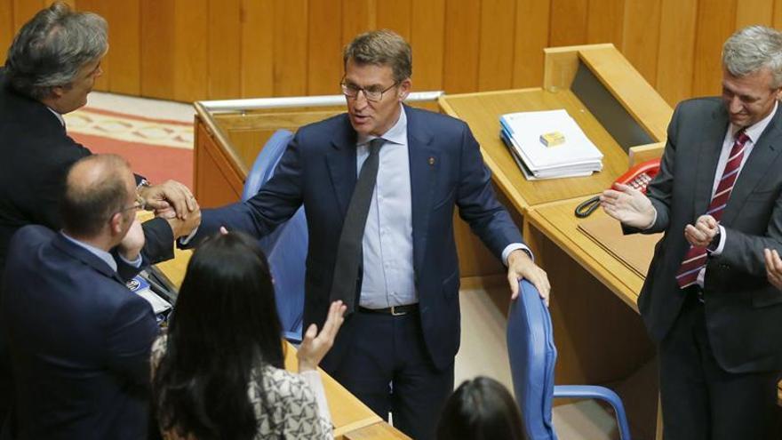 Núñez Feijóo, proclamado presidente de la Xunta de Galicia por tercera vez