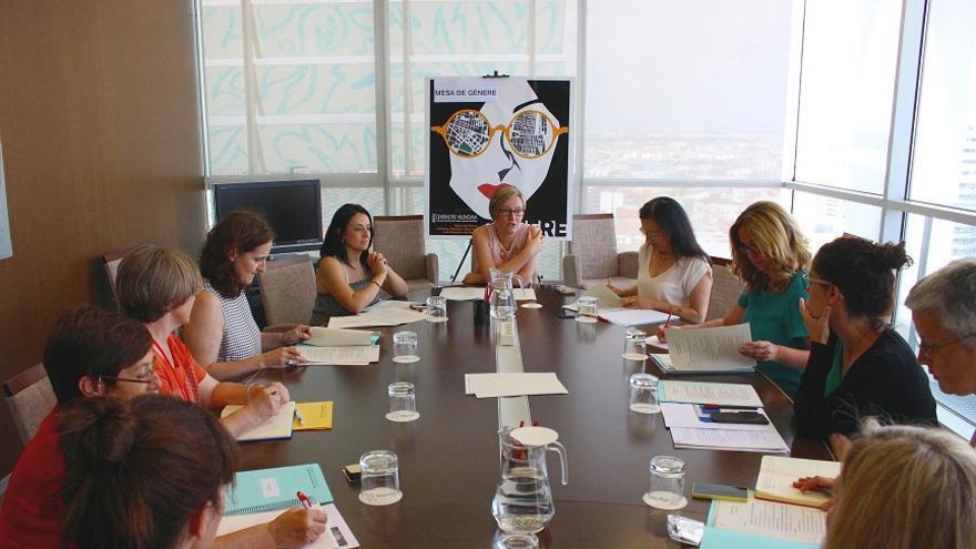Imagen de la reunión de la Mesa de Género