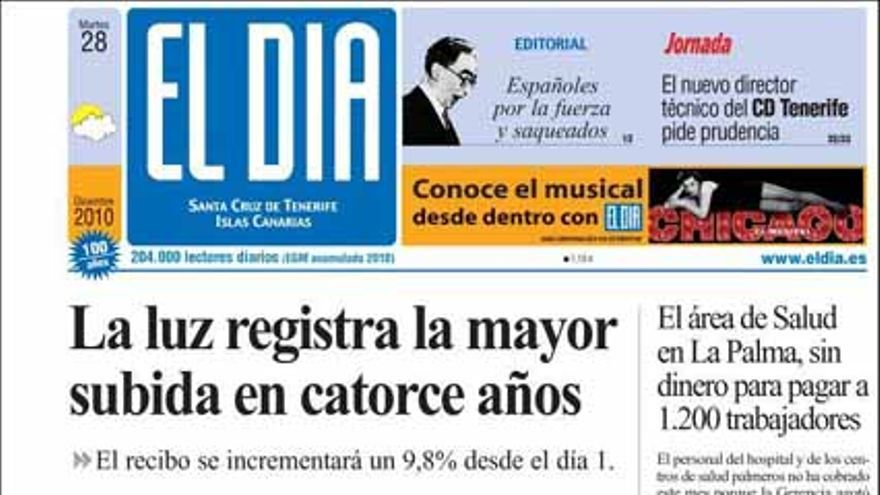 De las portadas del día (28/10/2010) #6