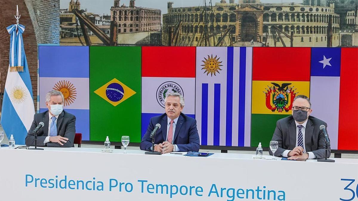 Alberto Fernández defendió la integración regional del Mercosur en medio de la creciente tensión con Uruguay