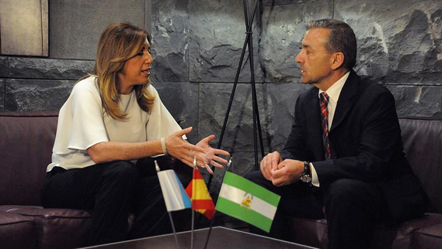 Paulino Rivero se reúne con la presidenta de la Junta de Andalucía, Susana Díaz.