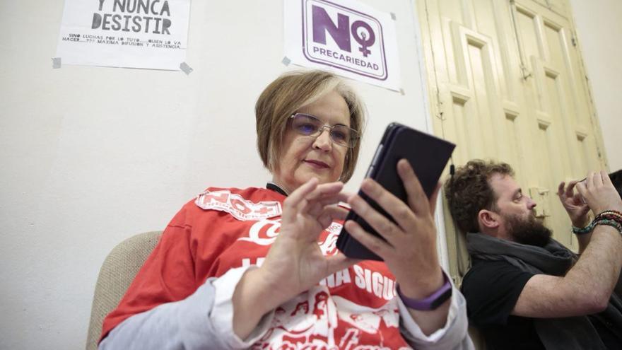 Aurora Jurado, espartana de Coca-Cola en lucha, integrante del colectivo 'No más precariedad'.