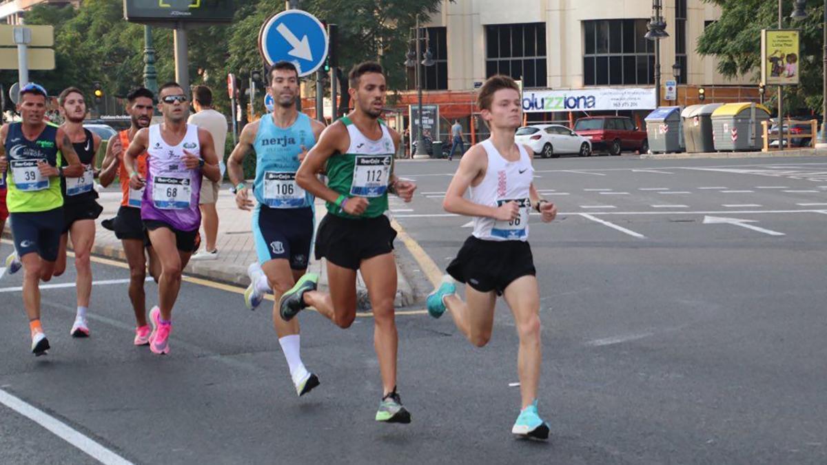 Juan Ignacio Grondona en plena prueba en Valencia.