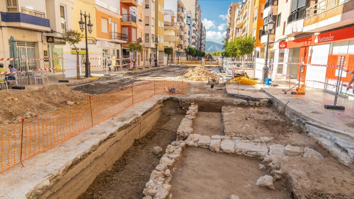 Imagen de los hallazgos arqueológicos de Cullera.