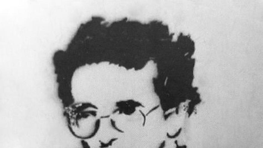 Esténcil de Roberto Bolaño en Barcelona en 2012.