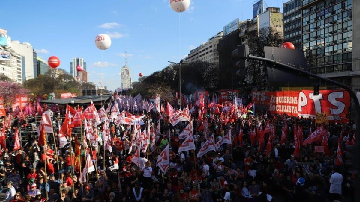Movilización de las agrupaciones de izquierda.